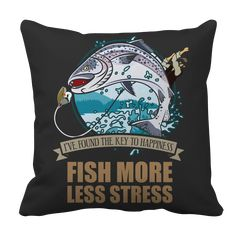 Fish More Less Stress Pillow Cases