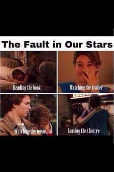 The Fault In Our Stars, very very true about the book. And trailer. Haven't seen the movie yet.