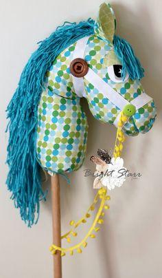 Vintage horse hobby horse horse on a stick toy horse