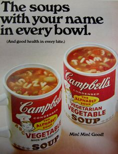 1968 Campbell's Alphabet Soup Vintage Magazine Advertisement by RelicEclectic, $6.00
