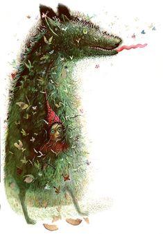 "Illustration from the book ""Kilipštukas the Elf"", 2004. Irena zviliuviene"