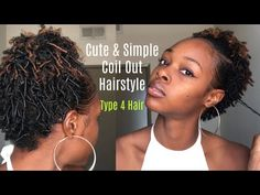 Finger Coil Out Hairstyle| Type 4 Short Natural Hair - YouTube