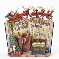 Jim Shore Twas the Night Before Christmas Storybook Figurine 4041100