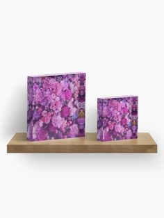 This beautiful purple floral acrylic block makes an elegant yet modern accent to your home decor or a great gift for her. Find this design on many more products at www.shopgritandglitter.com!