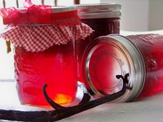 Ontario strawberry and vanilla bean jam sounds like a match made in foodie heaven! Ontario, Jam On, Match Making, Mason Jars, Vanilla, Spices, Strawberry, Pure Products, Tea