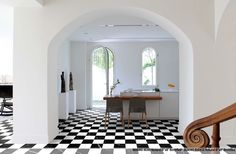 Ravenna Natural Stone Marmo Nero and Bianco 8x8 Porcelain Tile.