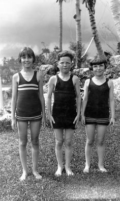 Little swimmers at the Venetian Pool in Coral Gables (1925). | Florida Memory