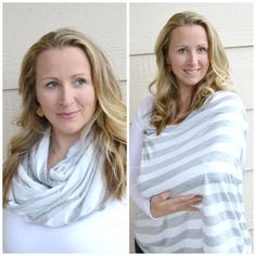Check out this item in my Etsy shop https://www.etsy.com/listing/227740695/heather-gray-and-white-stripe-nursing