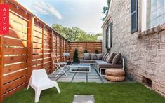 Before & After: Side Yard to Secluded Social Space | Apartment Therapy