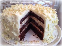 Gluteeniton suklaakakku_kuva_1 I Want To Eat, Bakery, Food And Drink, Gluten Free, Pie, Homemade, Sweet, Desserts, Drinks