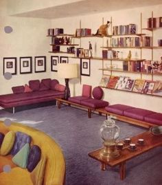 1950's interior design (for that midcentury look-L)