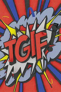 OMG! This typographic tribute to Roy Lichtenstein is brilliant