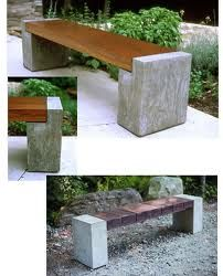 Geodes instead of concrete - wood and concrete bench Concrete Bench, Concrete Furniture, Concrete Projects, Concrete Design, Outdoor Projects, Garden Projects, Garden Furniture, Outdoor Furniture, Outdoor Decor