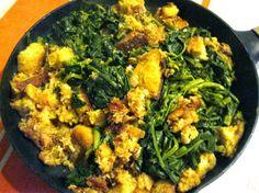 Cozinha com a Anna: Alheira com Grelos e Broa