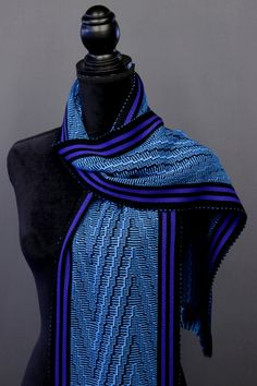 Bamboo scarves handwoven by Pamela Whitlock. Handwoven bamboo quilts from sosumi weaving. Weaving Designs, Woven Scarves, Color Trends, Cashmere, Two By Two, Hand Weaving, My Style, Bamboo, Clothes