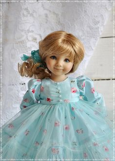 Outfit for doll Dianna Effner 13 inch Doll Clothes Outfit for doll Little Darling Clothes for Pretty Dolls, Cute Dolls, Beautiful Dolls, Little Darlings, Girl Dolls, Dress Making, Doll Clothes, Tulle, Flower Girl Dresses