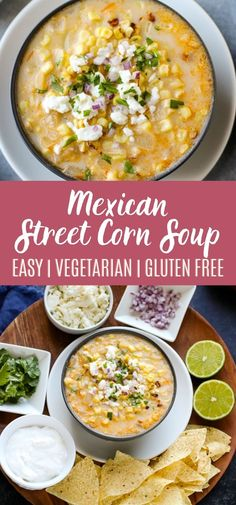 Corn Soup Recipes, Best Soup Recipes, Chowder Recipes, Healthy Soup Recipes, Chili Recipes, Mexican Food Recipes, Vegetarian Recipes, Easy Recipes