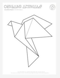 Flying Origami Bird - Take flight with this elegant and fun free coloring page
