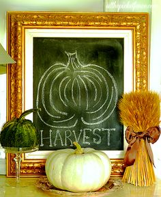 Simple Fall Decorating Ideas from At The Picket Fence