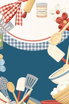 House kitchen cooking utensils needs Indigo elegant advertising background Making A Cookbook, Brochure Food, Cookbook Template, 12x12 Scrapbook Paper, Peter Rabbit And Friends, Page Borders Design, Fb Cover Photos, Candy Art, Bakery Logo