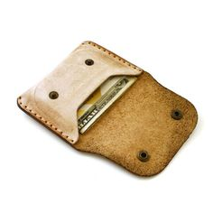 Leather Wallet Slim Flap wallet for credit cards by AtelierPall MXS @ $43.24