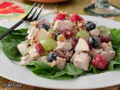 Berry Grape Chicken Salad | mrfood.com
