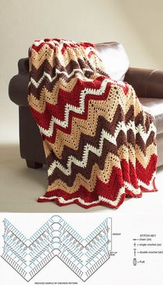 FIFIA CROCHETA blog de crochê : coberta de crochê zique zaque com gráfico