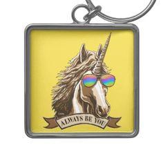 #Always be you keychain - #funny #unicorn #unicorns #horse #horses #magical #colourful #fantasy