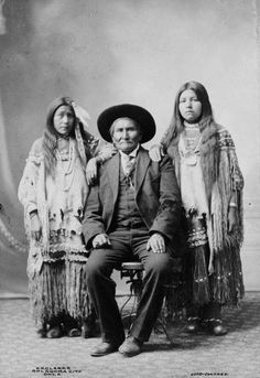 Eva, Geronimo's Youngest Daughter (Eva about age 16, Geronimo, and Emily Chihuahua about 16. Photograph courtesy National Archives)  In early January 1889 the War Department decided to send the Mescaleros at Mount Vernon Barracks back to New Mexico. They had been in the wrong place at the wrong time and caught up and exiled east with the Chiricahua prisoners of war then living at Mount Vernon Barracks near Mobile Alabama. Geronimo seized on this as an opportunity to free his Mescalero wife…
