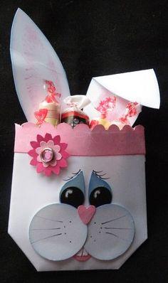 Stampin' up!  Treat Holder  Jackie Topa  Easter Bunny Envelope