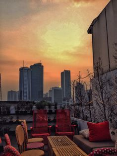 Sunset in Jakarta. Taken from Por Que No at roof top of Riz Building, Jakarta.