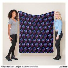 Purple Metallic Dragon Fleece Blanket Picnic In The Park, Edge Stitch, Outdoor Events, Portal, I Shop, Metallic, Delicate, Dragon, Bath