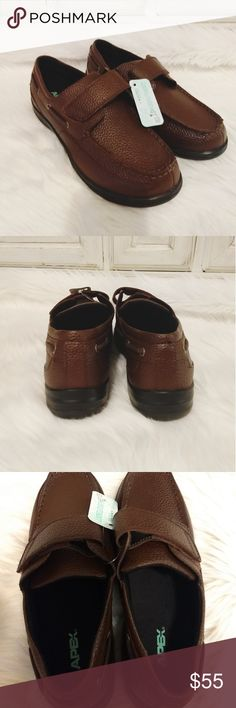 97c51a9a42dc Apex Men s 10.5 XW Brown Pebbled Leather Loafers Apex Men s size 10.5 Extra  Wide Brown Pebbled