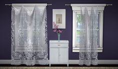 GreenGirl100 | Build a Curtain Set - Lace Curtains 4 different...