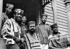 Amiri Baraka (center) was born Everett LeRoi Jones on Oct. 7, 1934. Pictured at the entrance to Spirit House in Newark in 1966 with musicians and actors of the Black Arts Movement, Baraka was named Poet Laureate of New Jersey in 2002. He died in 2014. Star-Ledger archive photo