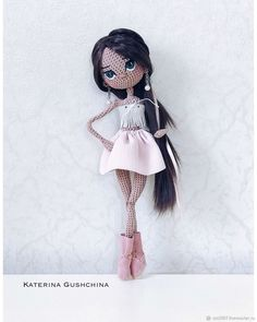 All Amigurumi Crochet Patterns and Animal Models - Amigurumi WorldAll amigurumi crochet patterns you can find in our article with a content enriched with images waiting for you. Crochet Fairy, Cute Crochet, Beautiful Crochet, Crochet Toys, Crochet Dolls Free Patterns, Crochet Doll Pattern, Doll Patterns, Fairy Dolls, Knitted Dolls