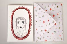 Girly illustrated cards and envelopes by bvbblegvm