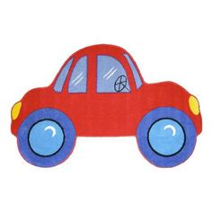 Fun Rugs Fun Shape Medium Pile Car Area Rug