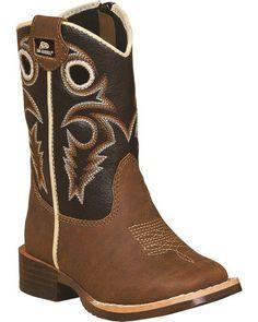 Durango Black Leather Cowboy Boots Kids 3m To Have A Unique National Style Kids' Clothing, Shoes & Accs