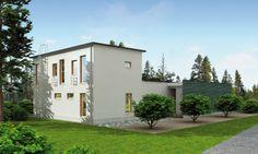 Modern log home architecture. Honka Lumi.