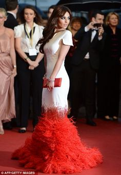 Celebrity Style: Sexy Chic Glam Red Carpet Style and More. Cheryl Cole Stephane Rolande Haute Couture gown, Cannes.