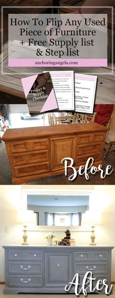 Dresser makeover | furniture flip | Furniture Makeover | chalk paint | DIY | Dresser | Home | Decor | Cheap Furniture