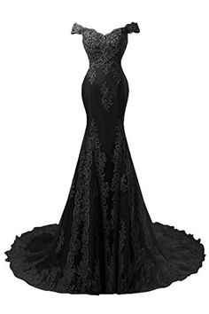ed852d075d27d Amazon.com  Bess Bridal Women s Mermaid Beaded Lace Formal Prom Evening  Dress US2 Black  Clothing