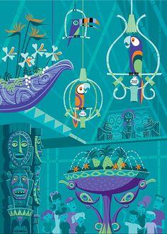 """The Birds Sing"""" - Disneyland Enchanted Tiki Room 50th Anniversary av Shag"""