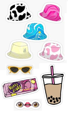 Preppy Stickers, Cute Laptop Stickers, Bubble Stickers, Anime Stickers, Kawaii Stickers, Cool Stickers, Printable Stickers, Box Template Printable, Homemade Stickers