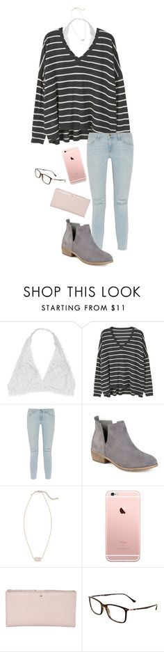 """""""Untitled #714"""" by shelbycooper ❤ liked on Polyvore featuring MANGO, Frame, Journee Collection, Kendra Scott, Kate Spade and Ray-Ban"""