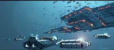 Week 6 By Rob Cunningham I have a thing for space, and for concept art. This is Concept art for a game set in space called homeworld which i love the aesthetic of.