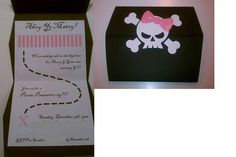 """Avery & Greer's 3rd birthday """"Girl Pirate Party"""" invitation! 3rd Birthday Parties, Birthday Ideas, Girls Pirate Parties, Pirate Party Invitations, Girl Pirates, Bday Girl, Princess Party, Best Part Of Me, Pink Girl"""