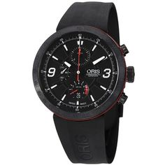 Oris TT1 Black Dial Rubber Mens Watch 67476594764RS >>> You can find out more details at the link of the image.