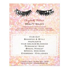 #makeup #artist #makeupartist - #gemstone lashes professional makeup artist flyer